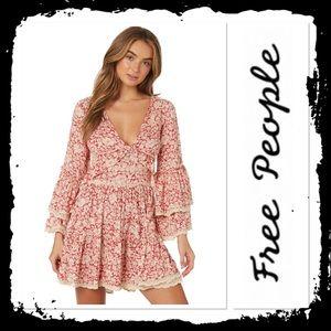Free People Kristall Mini Peasant Dress